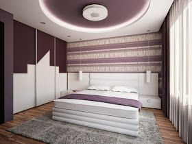 Bedroom false ceiling designs pop - built in modern LED ceiling lights