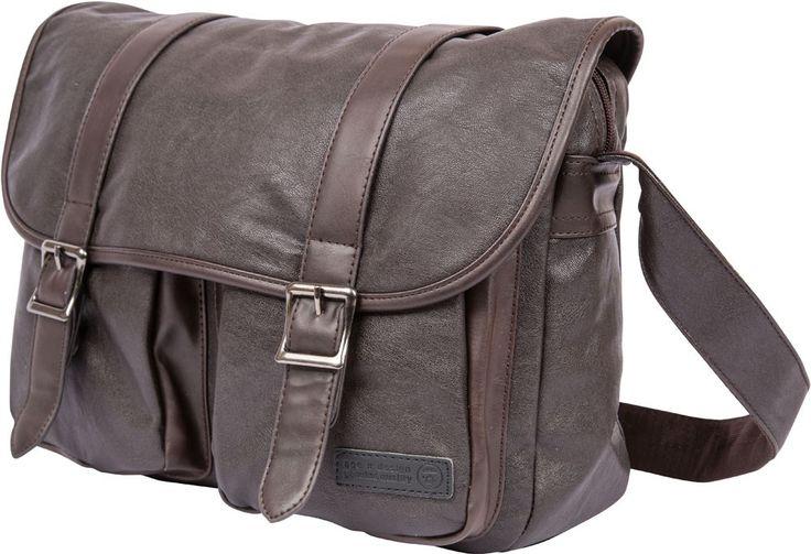 APE Leatherite Men's Handbag - Dark Brown
