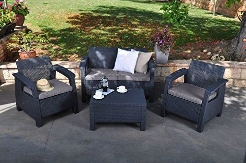 Corfu-4-Piece-Set-All-Weather-Outdoor-Patio-Garden-Furniture-w-Cushions-Charcoal