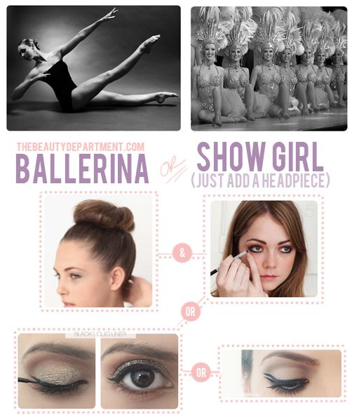 Ballerina Bun and lots of beautiful hairstyles on this site.