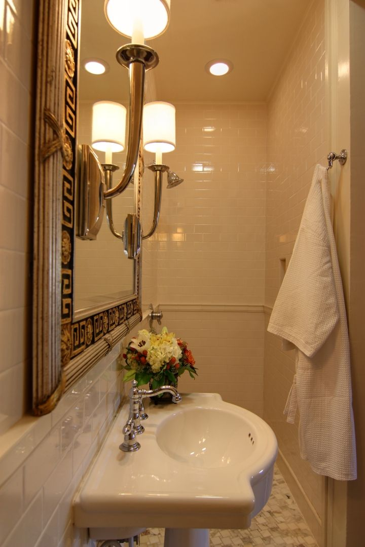 Soft Lighting And Classic Lines. This Bathroom By Nelson Wilson Interiors  Uses The Traditionally Inspired