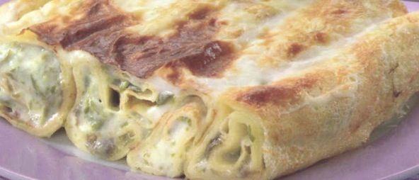 ⇒ Bimby, le nostre Ricette - Bimby, Crespelle alla Crema di Taccole con Funghi Porcini