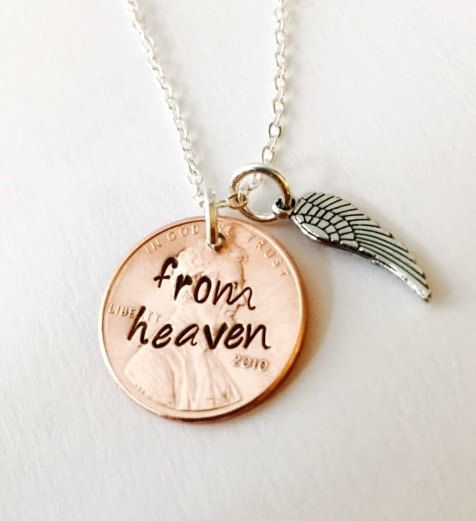 From Heaven Stamped Penny Hand Stamped Penny by UniquelyImprint