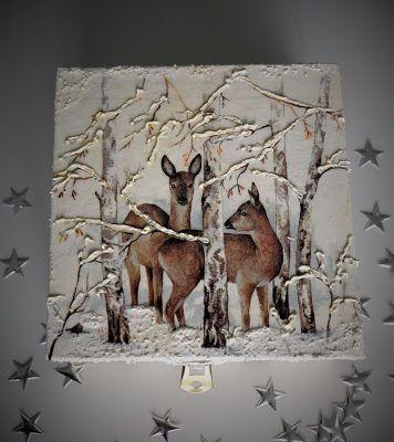 Pracownia artystyczna CSIA- Centrum Szkoleń i Animacji: Śniegowe pudełeczka