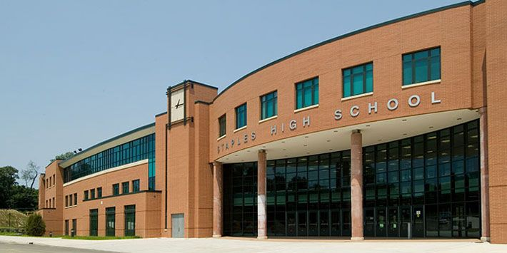 Staples High School - Blush Mist brick #school #highschool