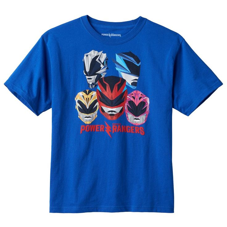 Boys 8-20 Saban's Power Rangers Tee, Size: Medium, Blue