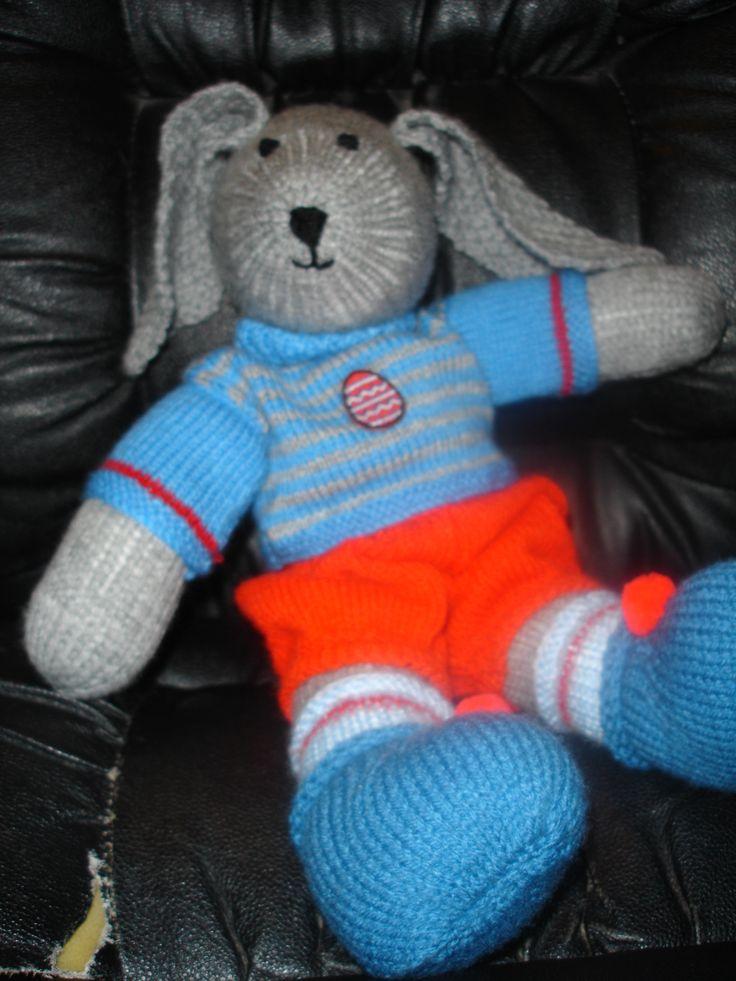 Easter Rabbit Grey Boy