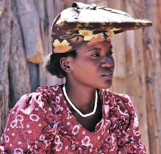 Herero woman in traditional style - Namibia