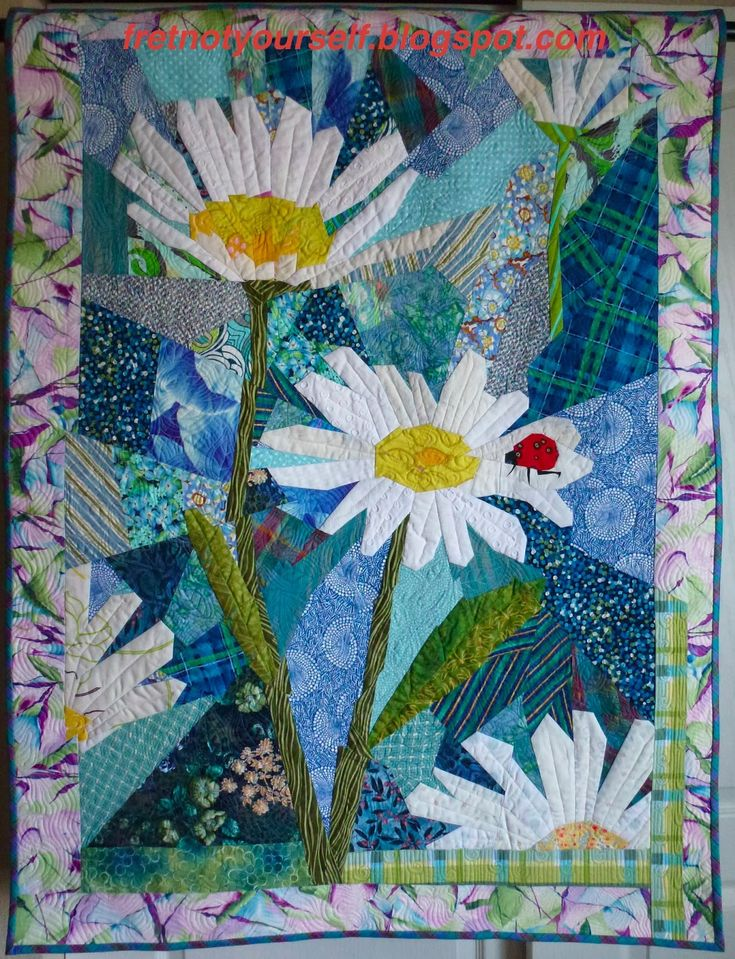Daisy quilt by Ann   Fret Not Yourself