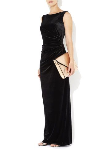 Black Velvet Maxi Dress #MyChristmasStory