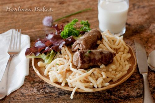 Beef Rouladen With Dill Spaetzle Recipe — Dishmaps