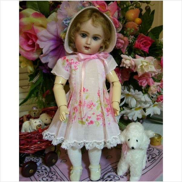 A pretty example of a hankie dress.