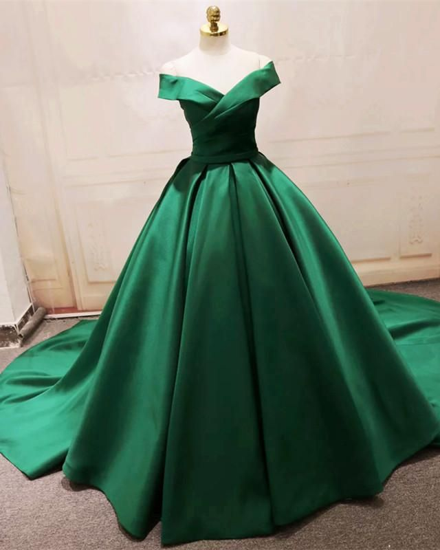 0a70e46725 Item Description : A Glamorous Form Fitting Satin Ball Gowns Featuring a off -the-shoulder With V-neck. Lace-up back design.Perfect For Prom,Evening, Formal ...