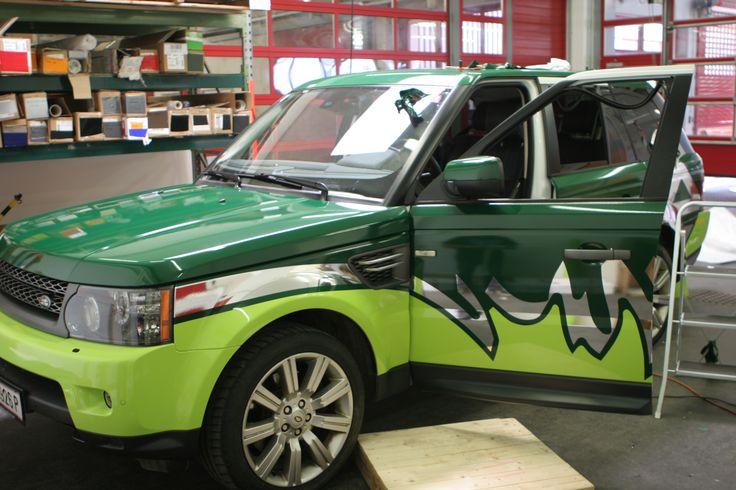Range Rover Vollfolierung #Autofolierung #carwrapping #Kfz #Folierung #vehiclewrapping #RangeRover #green