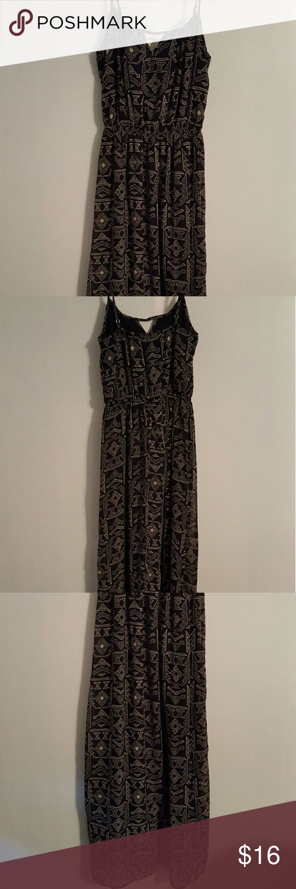 Aztec Maxi Dress Black and Tan Aztec Maxi Dress one clothing Dresses Maxi