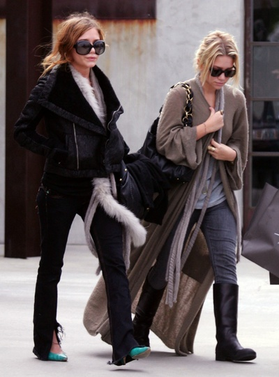 Mary Kate and Ashley Olsen - sometimes these two come off as fashionable hobos to me, but i love them and their quirky styles