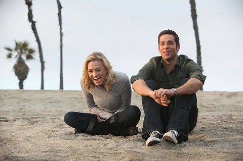 "Yvonne Strahovski & Zachary Levi in ""Chuck"" (TV show) - a favorite!    last scene of series ;( such a good moment though"