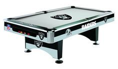 Oakland Raiders Licensed Billiards Table with Team Logo Cloth from Imperial International