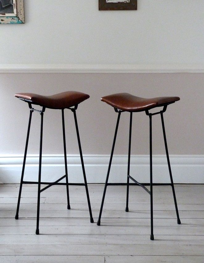 Wood And Metal Industrial Counter Stools