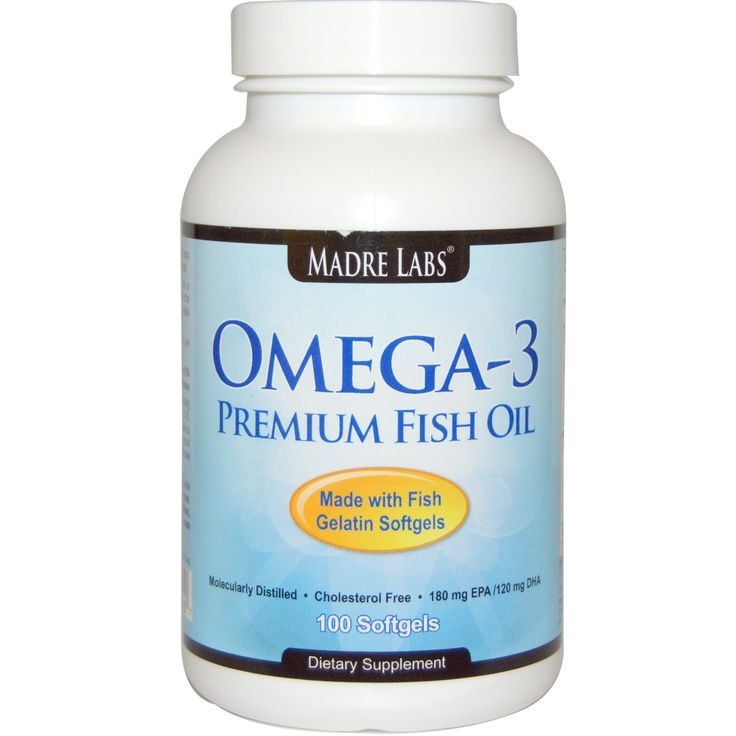 ONLY 5$ Madre Labs, Omega-3 Premium Fish Oil, 100 Fish Gelatin Softgels