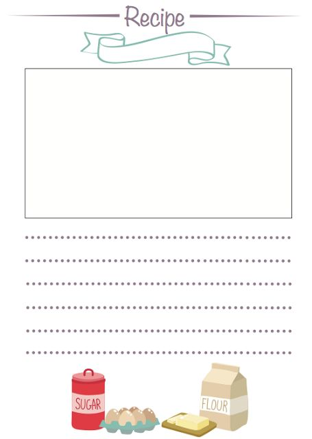 Recipe Card Free Printable!