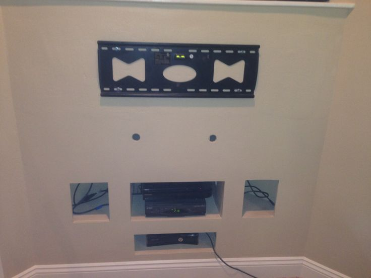 Had to re frame this wall with 2x6 to mount flat screen. www.sjpnetwork.com