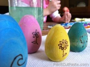 wooden eggs: Eggs Waldorf, Watercolor Wooden, Wooden Easter, Burning Watercolor, Eggs Paintings, Colors Eggs, Easter Eggs, Wood Burning Eggs, Wooden Eggs