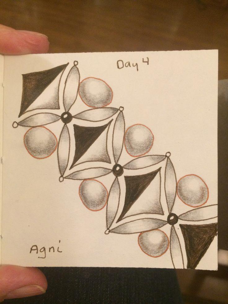 | Zentangle | Zenart | Zendoodle | the100dayproject | I Teach Tangling | Tangling | Agni |