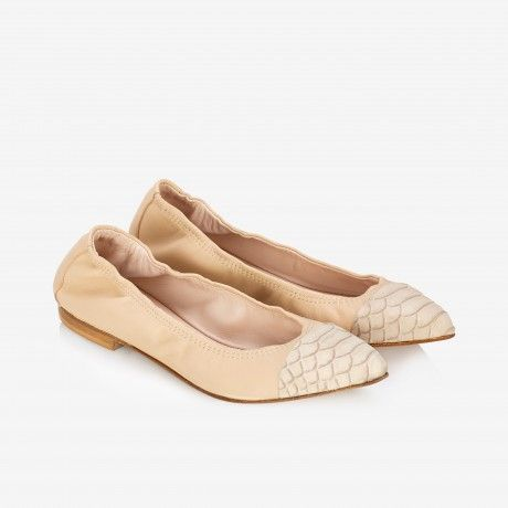 Two-tone Pointed-toeFlats