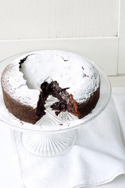 Swedish Chocolate Cake - like a cross between a brownie and a lava cake