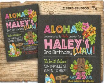 Luau cumpleaños invitación cumpleaños hawaiano Luau fiesta de
