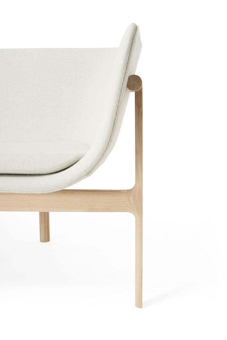a modern, sculptural sofa in cream