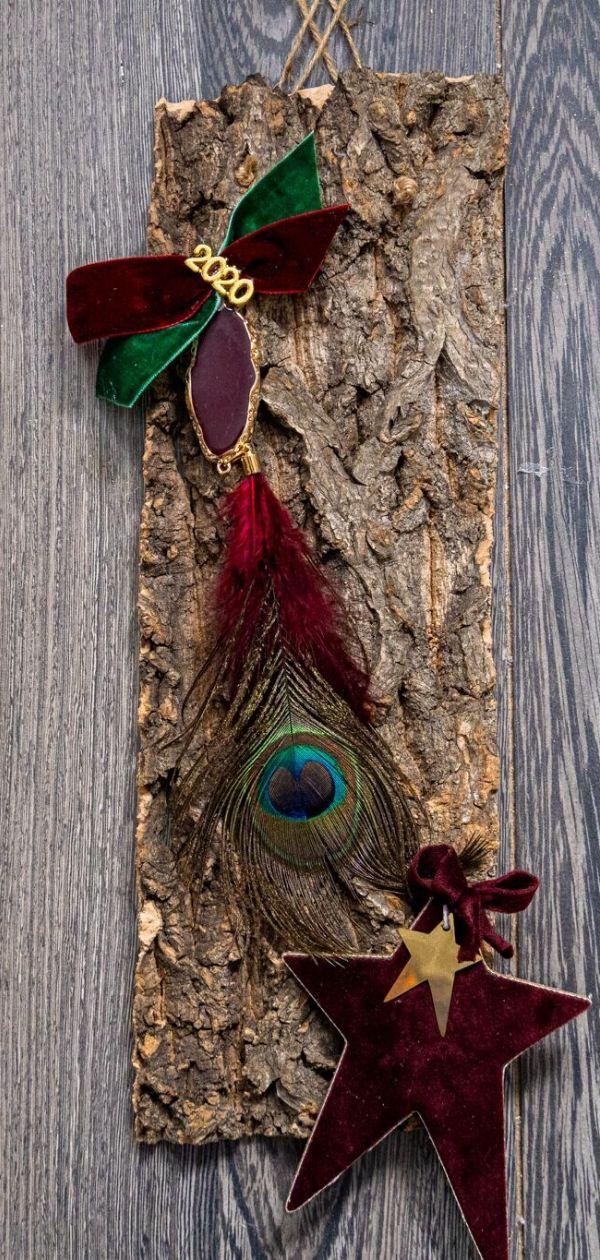 Γούρι 2020 κορμός δέντρου Drop earrings, Jewelry, Diy