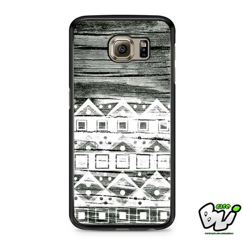 Apple Aztec White Wood Samsung Galaxy S7 Edge Case