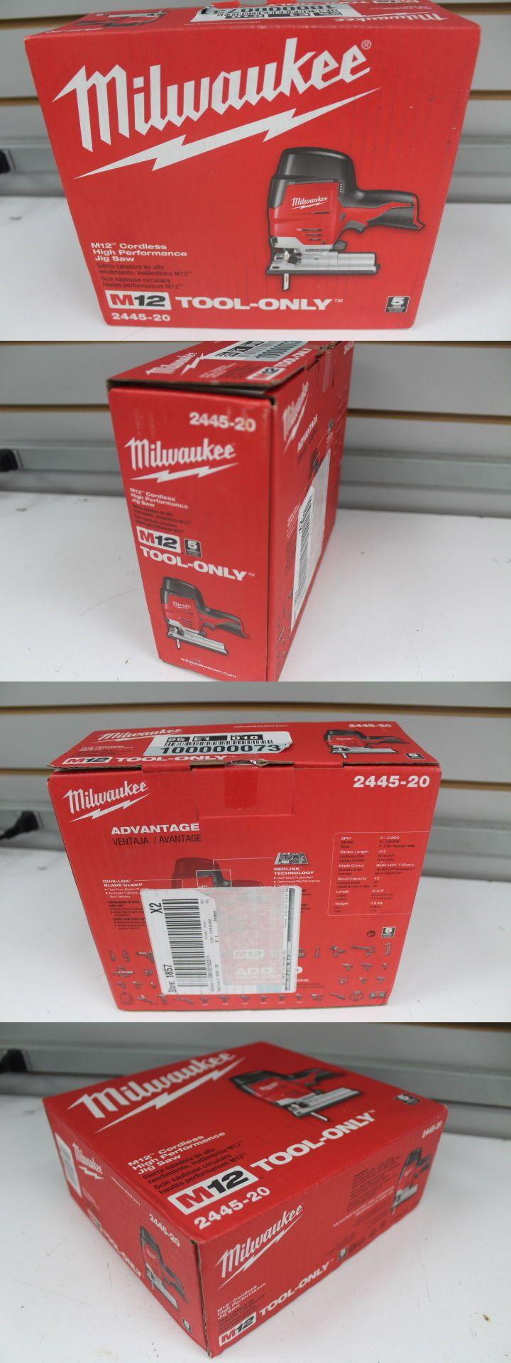 Jig and Scroll Saws 122834: Milwaukee M12 12V Li-Ion High Performance Hybrid Grip Jigsaw 2445-20 New Tool On -> BUY IT NOW ONLY: $87 on eBay!