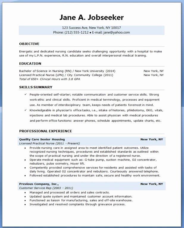 Nursing Student Resume Template Lovely Sample Resume For Nursing
