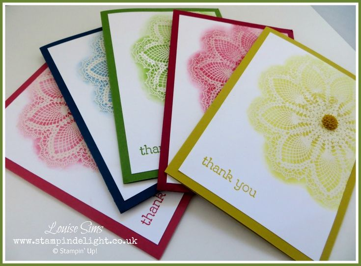 Stampin' Up! Hello Doily, 2012-2014 In Colours, Emboss Resist Technique - Louise Sims, Stampin' Delight, UK Demo