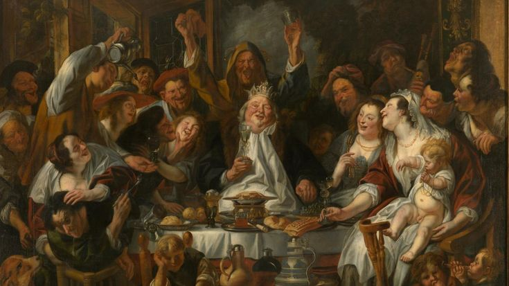 Jacob Jordaens - Le roi boit.