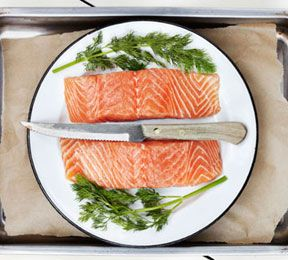 Norwegian-Style Oven Roasted Salmon by sharecare: made with honey, lemon, garlic, cumin, coriander and paprika.