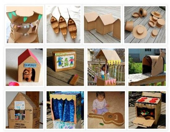 32 things to make w/a cardboard box