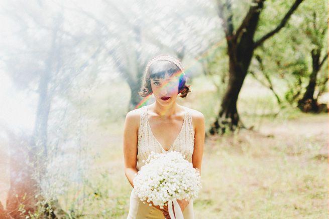 love the #lensflare: Lace Headbands, 20S Dresses, Babies Breath Bouquet, Finals Flowers, Bouquets Flowing, The Dresses, Bride, Baby Breath Bouquets, Art Deco