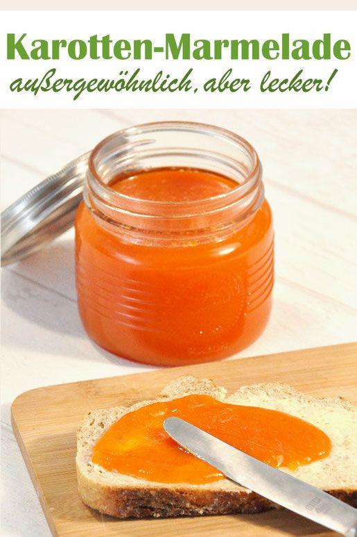 Karotten-Marmelade. Außergewöhnlich, aber richtig gut!