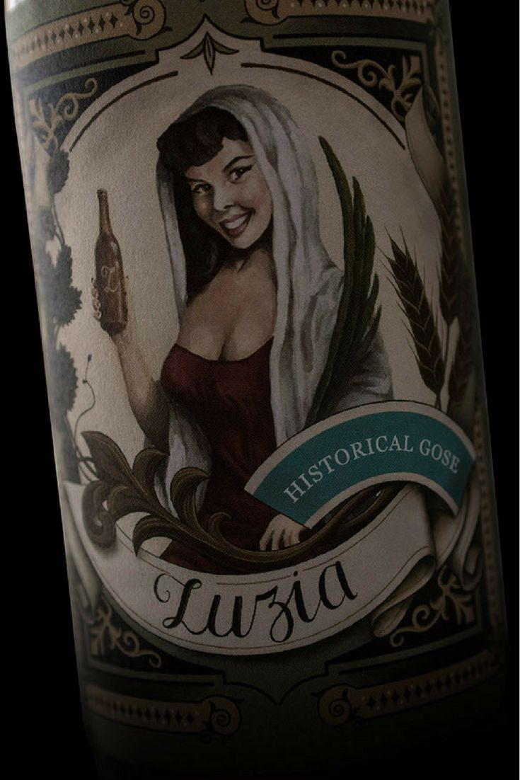 """'Luzia' craft beer has its origins in Bairrada, Aveiro. The different beer styles crafted with small changes in the ingredients remind us that details are important. This label design celebrates the Lady """"Luzia"""" and the beauty of details."""