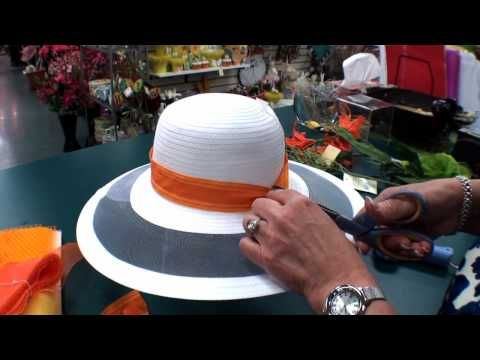 Derby Hats - Trimming Part 1  Great Tutorial by Deescraft in Louisville KY.