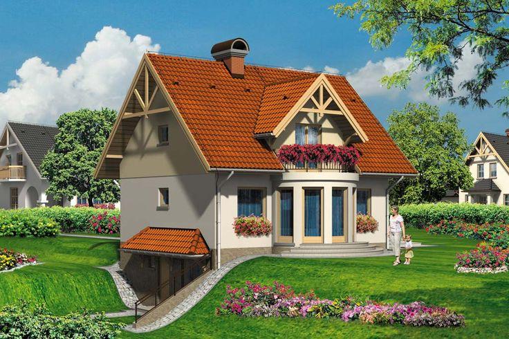 Dom jednorodzinny, parterowy z poddaszem użytkowym i podpiwniczeniem