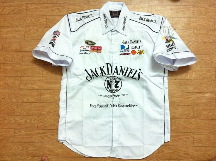 Embroidery Logos F1 NASCAR MOTO GP Shirts Short Sleeve Cotton Shirts for Jack Daniels Shirt Motorcycle Rider Shirt. C176white