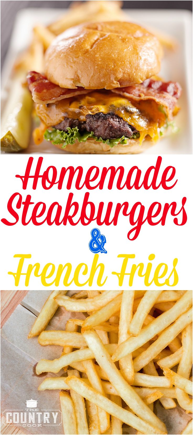 Homemade Diner Style Steakburgers like Steak and Shake burgers. Nothing tastes as good as a homemade hamburger. No grinder needed! And a great and super tasty recipe for homemade french fries!
