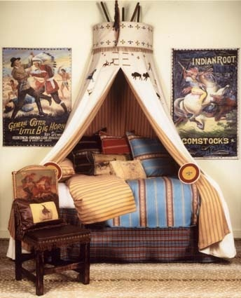 I would love to have a little boy so I can decorate his room in a cowboy and indian theme!