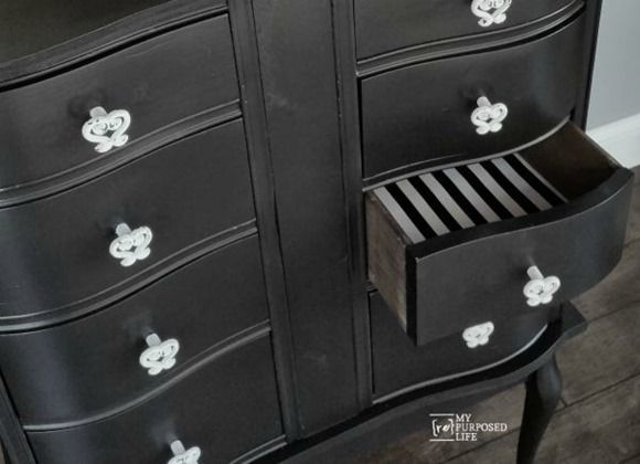 How to use a repurposed desk to make a unique chest of drawers, great for the bedroom or the hall plus entryway. Step by step tutorial-you can do this too!