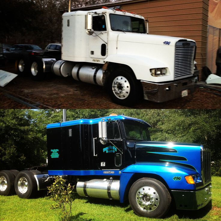 Mack Truck Rod Before And After: Before And After On Freightliner